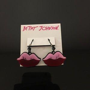 Betsey Johnson Lip Earrings